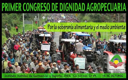 Primer Congreso de Dignidad Agropecuaria Colombiana. Por Juan Camilo Caicedo