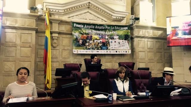 Pronunciamiento de la audiencia pública sobre presupuesto para la educación en Colombia