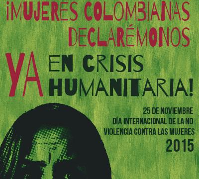 Dos mujeres son asesinadas cada día en Colombia