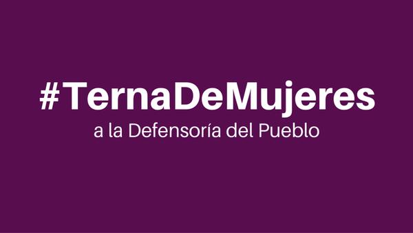 Congresistas y organizaciones sociales exigen terna de mujeres para la Defensoría del Pueblo
