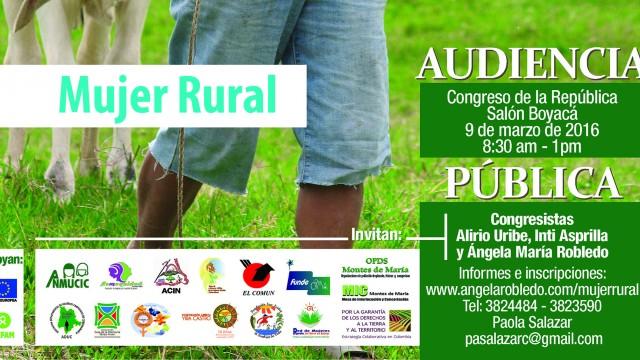 Audiencia Pública Seguimiento a las Políticas de Mujer Rural