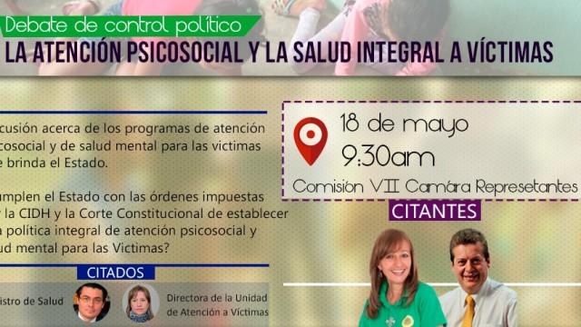 Intervención en debate de control político sobre atención psicosocial a victimas del conflicto armado.