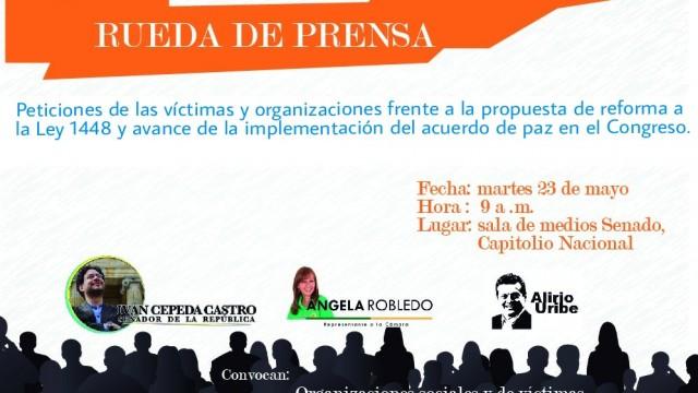 Rueda de Prensa | Víctimas piden al Congreso celeridad en iniciativas para implementar la Paz