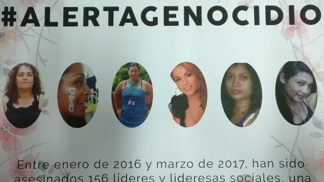 51 líderes y defensores de derechos humanos asesinados en el transcurso de este año denuncian en el Congreso