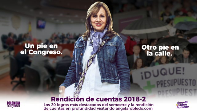 Rendición de cuentas de Ángela María Robledo 2018-2